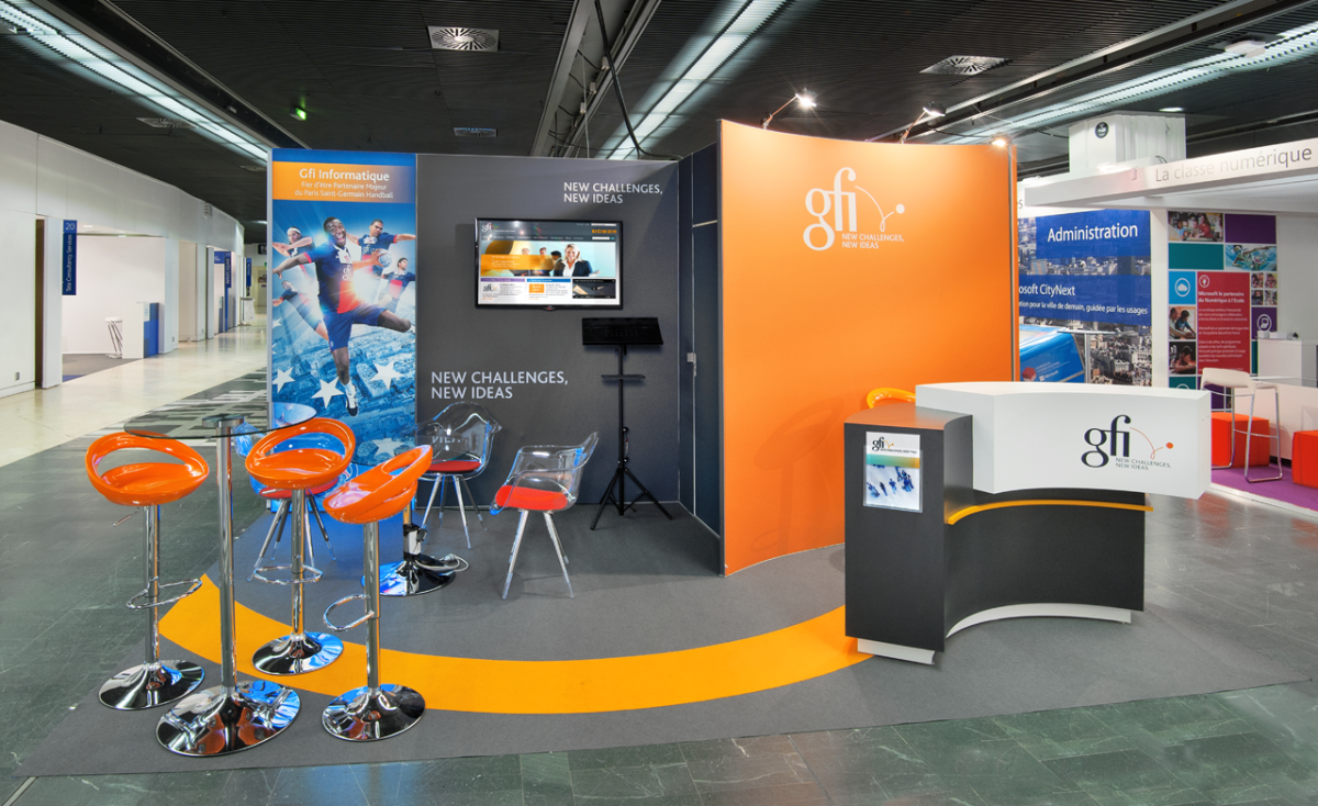 Stands Expo Universelle : Stand gfi m² salon ecommerce b