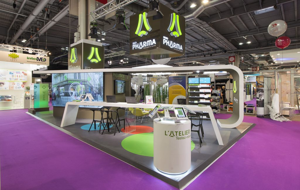 Stand Groupe Pharma - 66 m² - Salon Pharmagora - Stand 2B