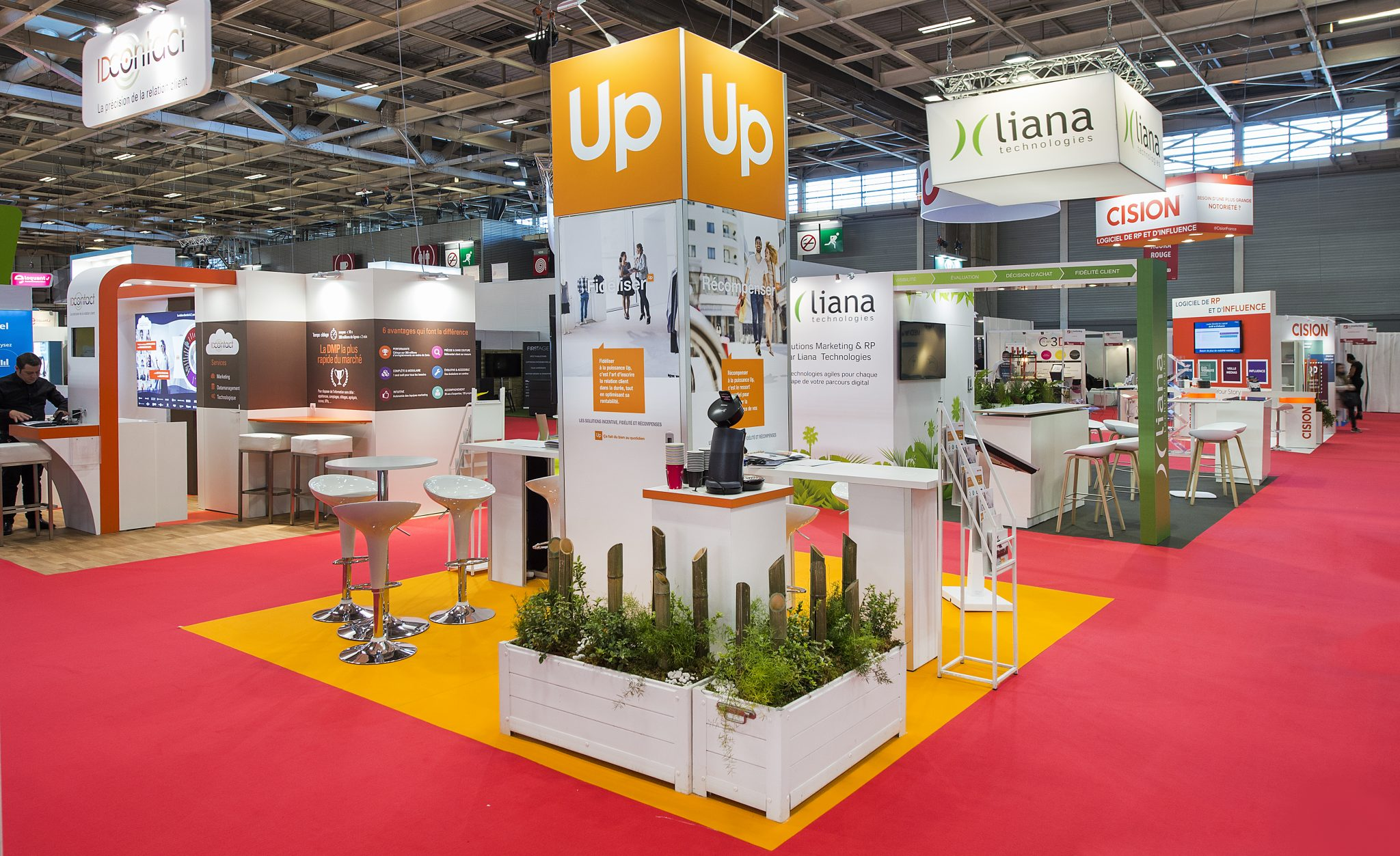 Marketing Exhibition Stand Years : Stand groupe up 36m² salon e marketing 2017 stand 2b