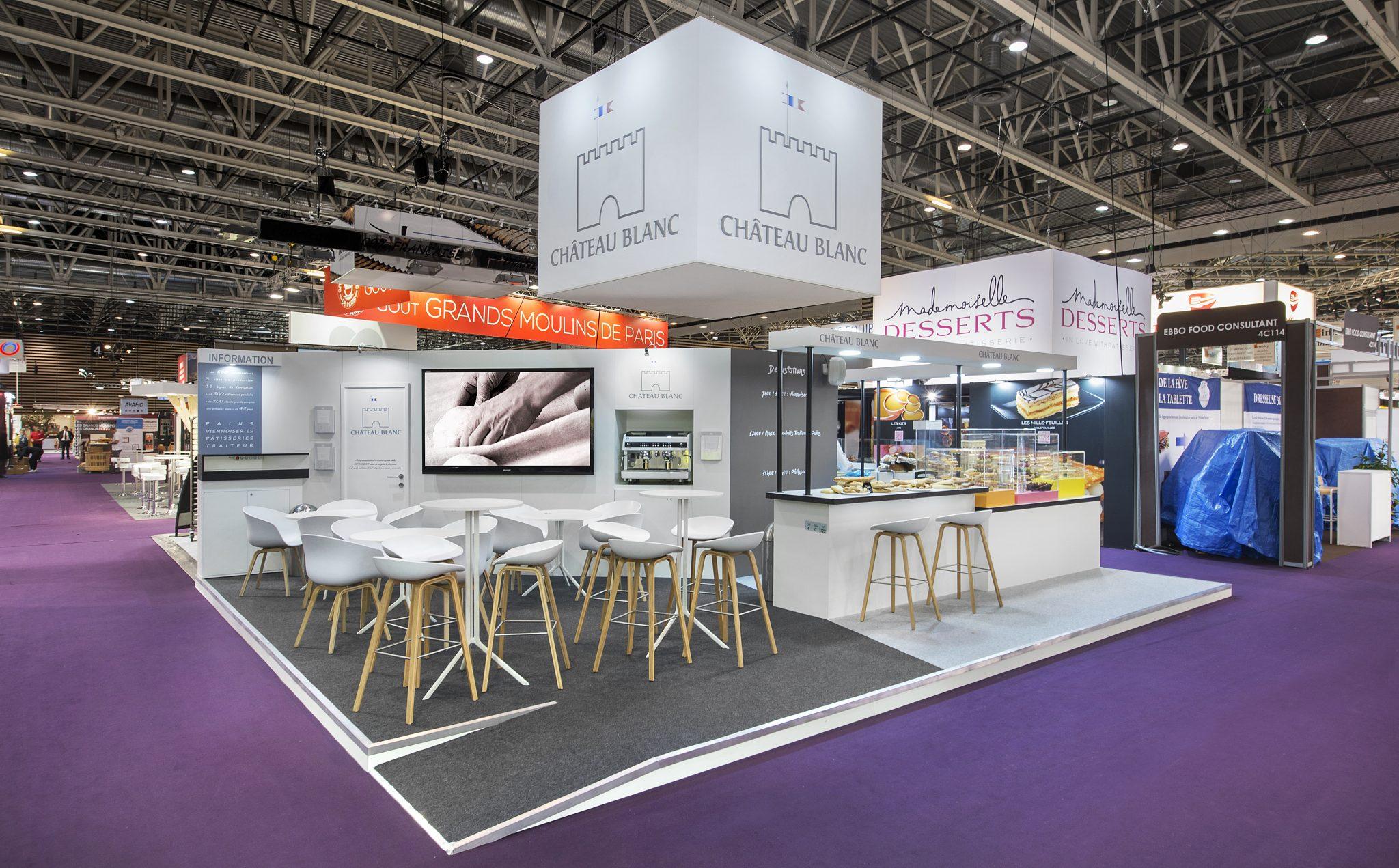 Stand ch teau blanc 56 m salon sirha 2017 stand 2b for Design de stand